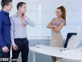 BiEmpire Ornella Morgan Wants To Join in Hot Office Guys Fucking! in Bisexual Hookup
