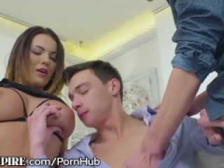 BiEmpire Bi-Dudes Love Big Tits & Cock in the Ass!!! in this MMF Bisexual Hookup