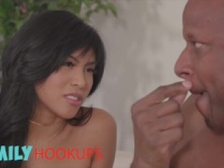 Family Hook Ups - Naughty Ember Snow Gets Suprised By Her Step Dad Bbc