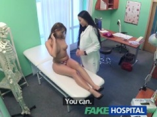 Fake Hospital Sexy horny lesbian nurse hooks up with patient